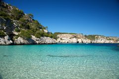 Clear water of Macarelleta beach Stock Photography