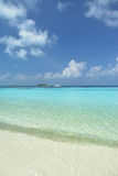 Clear water in Maldives beach Royalty Free Stock Images