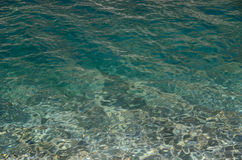 Clear water of the mountain lake Stock Photography