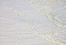 Clear water over white sand. Atlantic Ocean. Cayo Guillermo. Cuba Stock Images