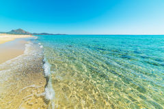 Clear water in Piscina Rei Royalty Free Stock Images
