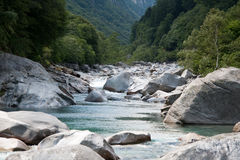 Clear water on the river. Clear water on a mountain river in Val Verzasca (Switzerland royalty free stock photos
