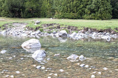 Clear water of a river with stones Royalty Free Stock Photography