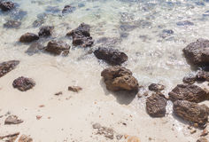 Clear water with rock Stock Photography