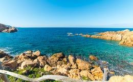 Clear water in Sardegna. Costa Paradiso in spring, Sardinia stock photos