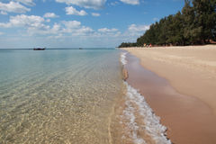 Clear Water On The Shore Of A Beach Stock Photography