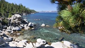 Clear Water Shoreline of Lake Tahoe stock footage