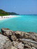 Clear water. And smooth sand at Tachai island Royalty Free Stock Photos