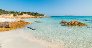 Clear water in Spiaggia del Principe. Beach, Sardinia Royalty Free Stock Photography