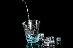 Clear water splash Royalty Free Stock Photos