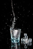 Clear water splash Stock Photo