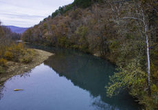 Clear Water Stream in Fall Stock Photography