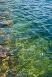 Clear water. On a sunny day Stock Photography