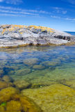 Clear water in Swedish sea Royalty Free Stock Images
