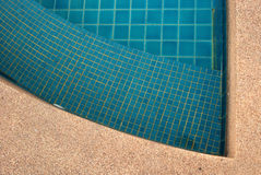 Clear water in the swimming pool blue bright. Background royalty free stock photography