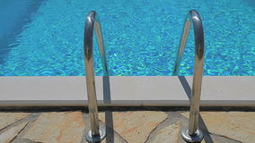 Clear water in the swimming pool stock video footage