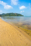 Clear water at Taling Ngam beach Stock Photography