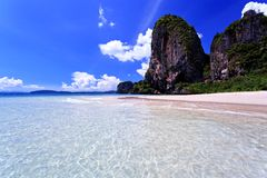 Clear water in thai sea Stock Photos