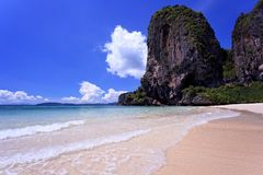 Clear water in thai sea Royalty Free Stock Photos
