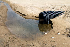 Clear water waste pipe Royalty Free Stock Images