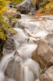 Clear water waterfall in autumn Royalty Free Stock Photo