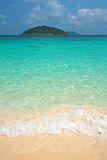 Clear water and white sand at Similan island Stock Photo
