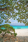 Clear water and white sand at Similan island Stock Images