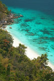 Clear water and white sand at Similan island Stock Photos