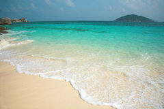 Clear water and white sand at Similan island Stock Image