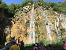 Waterfall in Croatia. Clear waterfall in Croatia Royalty Free Stock Photography