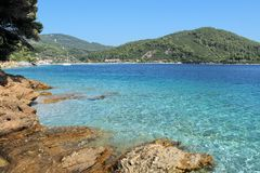 Clear waters bay Royalty Free Stock Photo