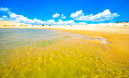 Clear waters in Bazaruto island and sand dunes Royalty Free Stock Photo