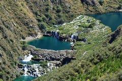 Clear waters of Cañete river near Vilca village, Peru. Clear waters of Cañete river near Vilca village, `Reserva paisajistica Nor Yauyos-Cochas`, Peru stock image