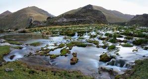 Clear waters of Canete river near Vilca villag, Peru stock photo