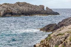 Clear waters of Limnionas beach bay at Zakynthos island Stock Photo