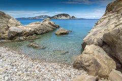 Clear waters of marathia beach at Zakynthos island Stock Image