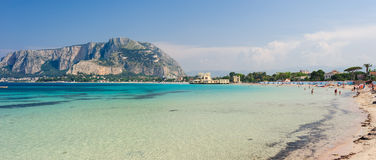 Clear waters of Mondello. Royalty Free Stock Image