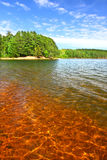 Clear Waters of Northwoods Wisconsin. Beautiful sunny day on a northwoods Wisconsin Lake royalty free stock images