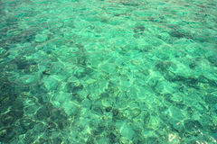 Clear waters of the Pacific Ocean. Glare of the sun on the clear waters of the Pacific Ocean Royalty Free Stock Photos