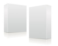 Clear white boxes Royalty Free Stock Image