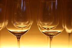 Clear Wine Glass Stock Photography