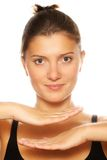 Clear woman face Stock Photos