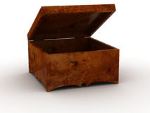 Clear wooden chest Stock Photos