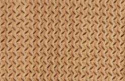 Clear yellow corrugated cardboard texture Stock Photography