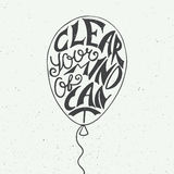 Clear your mind of can't on vintage background Stock Images