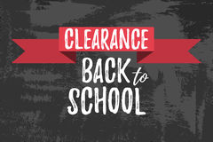 Clearance Back to School Typographic. Clearance Back to School Typographic - Vintage Style Back to School Stock Photo