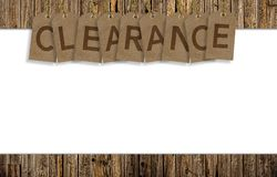 Clearance Background Royalty Free Stock Photo