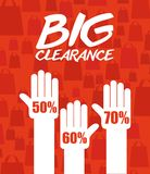 Clearance design Stock Image