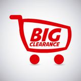 Clearance design Royalty Free Stock Photo