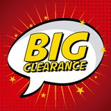 Clearance design Royalty Free Stock Image